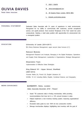 The Berkshire CV Template in purple