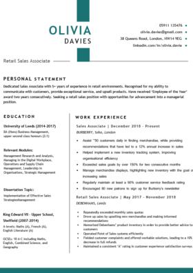 The Metropolitan CV Template