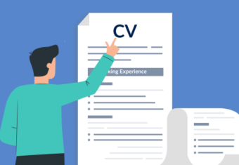 A job applicant point to a CV and considering how long should a CV be